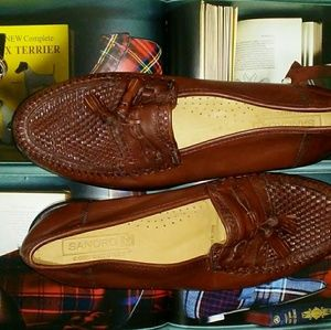 N.W.O.T SANDRO MOSCOLONI MENS WOVEN TASSEL LOAFERS